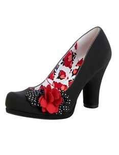 Ruby Shoo Eva Black Spot Shoes