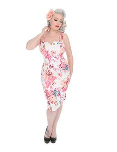 Hearts & Roses London Heavenly Vintage Wiggle Dress