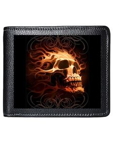 Tom Wood Fantasy 3D Lenticular Fire Skull Mens Wallet