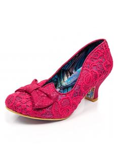 Irregular Choice Dazzle Razzle Hot Pink Mid Heel