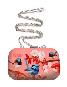 Woody Ellen Miss Fairy Floral Bird Art Box Purse Bag