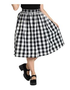 Hell Bunny Victorine Gingham 50s Rockabilly Skirt