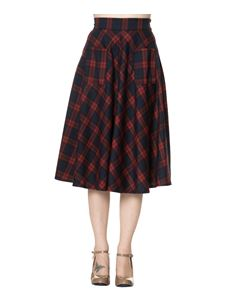 Dancing Days Apple of My Eye 50s Style Tartan Check Skirt Red/Navy