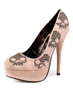Iron Fist Sugar Hiccup Sequin Platform Shoes Blush