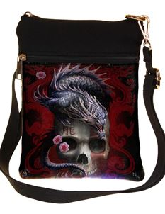 Nemesis Now Eastern Dragon Skull Bag By Anne Stokes