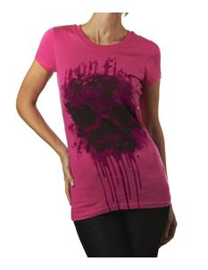 Iron Fist Ladies Necromance Skinny T Shirt Fuchsia