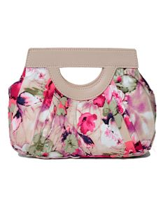 Hearts & Roses London Pink Floral Clutch Bag