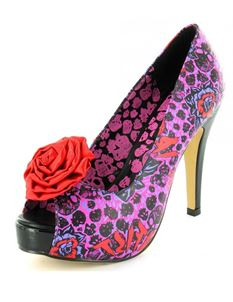 Iron Fist Mombassa Punk Red Rose Platform Shoes