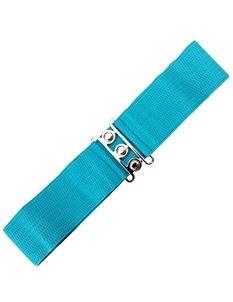 Dancing Days 50s Vintage Elasticated Stretch Teal Belt