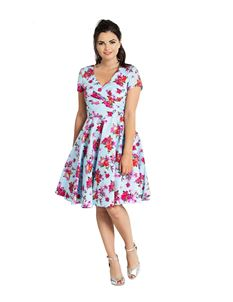 Hell Bunny Alyssa Vintage Style Mid Floral Dress