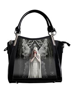 Anne Stokes 3D Only Love Remains PVC Black Handbag
