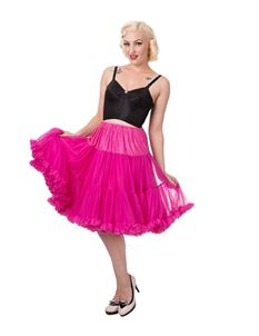 Banned 26 inch Hot Pink Rockabilly Petticoat