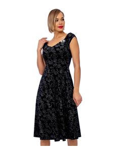 Clarence and Alabama Black Velvet Sparkle Dress