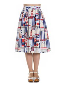 Hell Bunny 50s Lighthouse Nautical Rockabilly Skirt