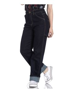 Hell Bunny Carpenter 40s 50s Navy Blue Jeans