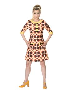 Dancing Days 1960s Style Retro Bow Mini Dress