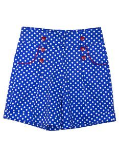 Friday On My Mind 50 Style Polka Dot High Waisted Short