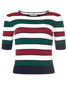 Collectif Chrissie Striped Jumper