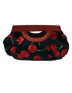 Hearts & Roses - Black Cherry Clutch Bag