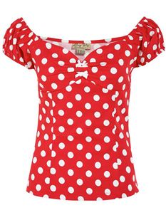 Lindy Bop Frenchy Red Polka Dot Size UK 20