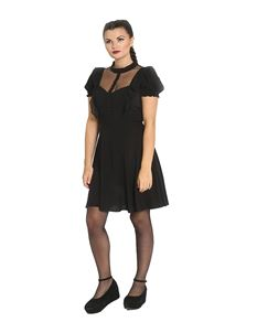 Hell Bunny Elana Mini Black Party Dress