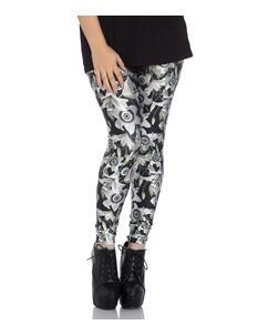 Hell Bunny Peepers Eyeball Lily Alternative Leggings