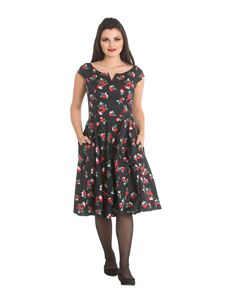 Hell Bunny Apple Blossom Polka Dot 50s Style Dress