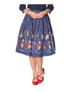 Banned Retro Space Vamp 50s Style Pleated Border Skirt