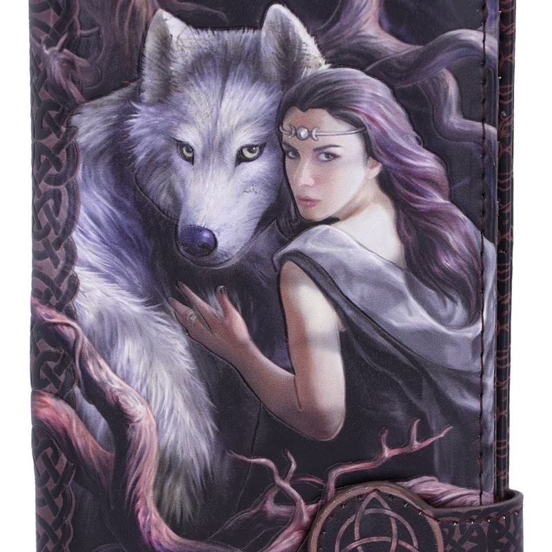 Anne Stokes Soul Bond Wolf Embossed Purse 18.5cm