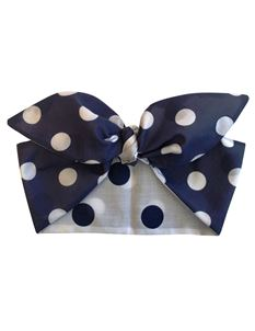 Gas Axe Inc Navy Polka Dot Rockabilly Head Scarf