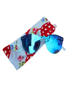 Guns N Posies Blue Retro Frame Sunglasses