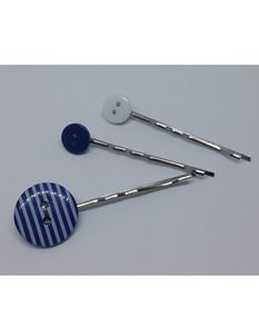 Said Lucy Blue Button Collection Of Bobby Pins