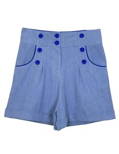 Weekend Doll High Waisted Light Denim Ava Shorts
