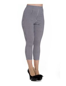 Hell Bunny 50s Judy Gingham Capris Cropped Trousers