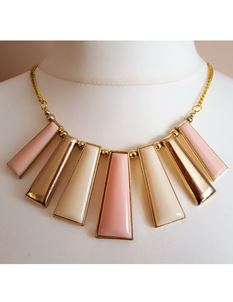 Shazazz Jewellery Vintage Pink And Cream Choker