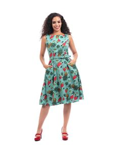 Collectif Vintage Hepburn Tropical Fruit Doll Dress