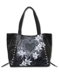 Spiral Direct Pure of Heart Stud Tote Alternative Bag