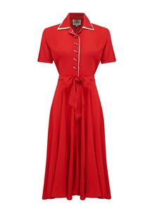 Mae Dress Red - The Seamstress of Bloomsbury