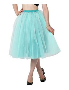 Clarence and Alabama 'Carrie' Tulle Skirt Aqua
