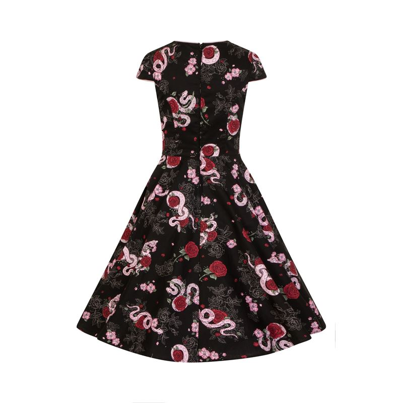 ed2f53c5754 Hell Bunny Python Rose 50s Vintage Style Floral Dress