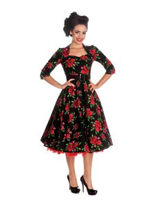 Hell Bunny Eternity Black Floral Vintage Style Dress