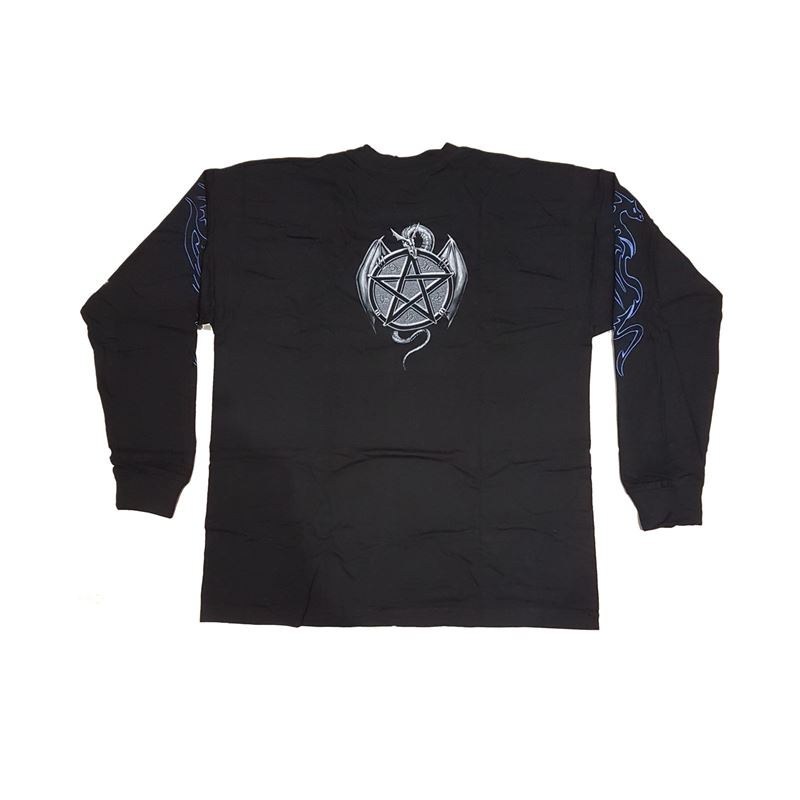 Spiral Direct Mens Ice Dragon Long Sleeve T Shirt