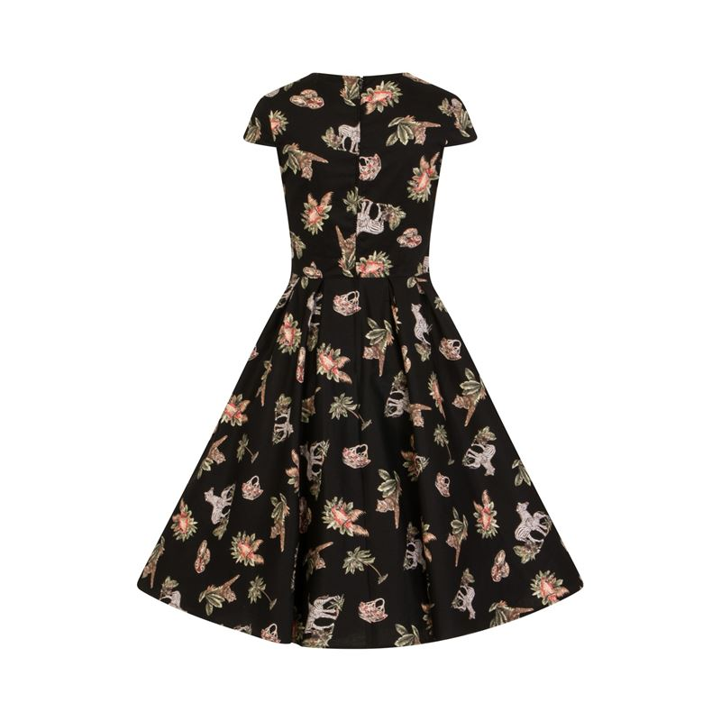 Hell Bunny Messina Animal Safari 50s Style Dress