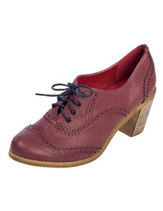 Banned Retro 40s Betty Does Country Lace Up Shoes