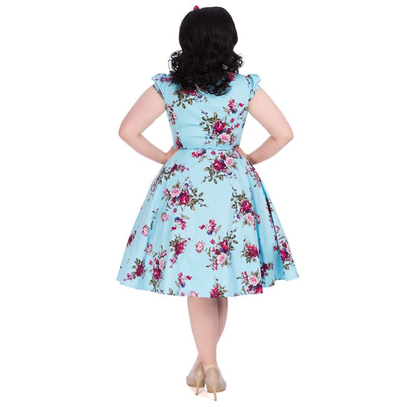 9275454ac1 Hearts And Roses 50s Ballet Light Blue Floral Dress