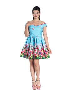 Hell Bunny Angelique Tulip Floral Mini Summer Dress