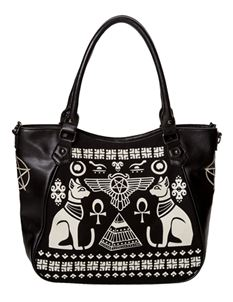 Banned Anubis Sphynx Cat Egyptian Alternative Handbag