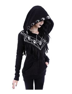Restyle Moon Geometry Hoodie Alternative Black Hoody