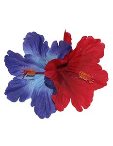 Lady Luck's Debra Double Hibiscus Flowers Blue Red