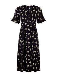 Trollied Dolly Boho Flo Dress Black Floral